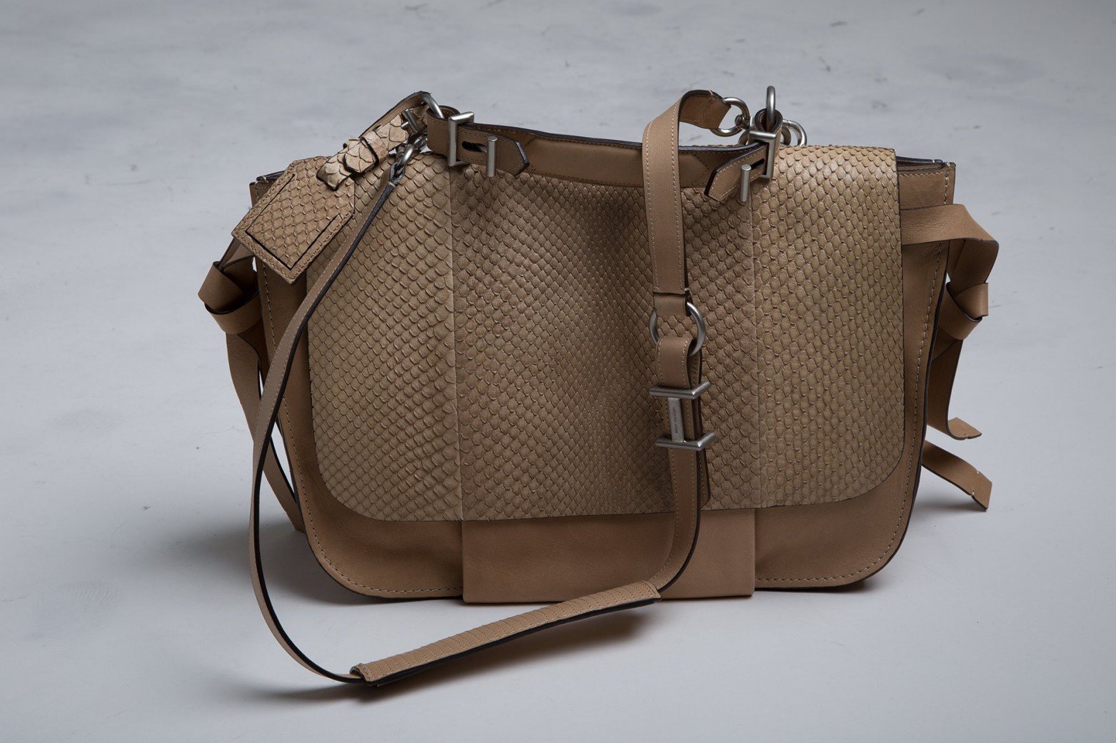 Reed Krakoff Python and Leather Messenger