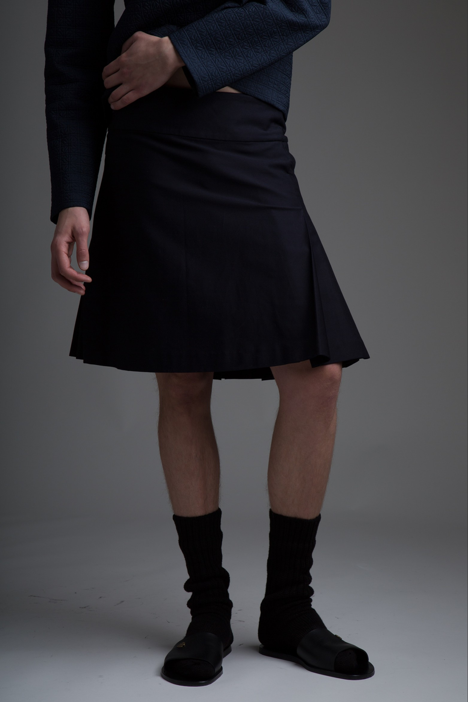 Vintage Givenchy Pleated Kilt