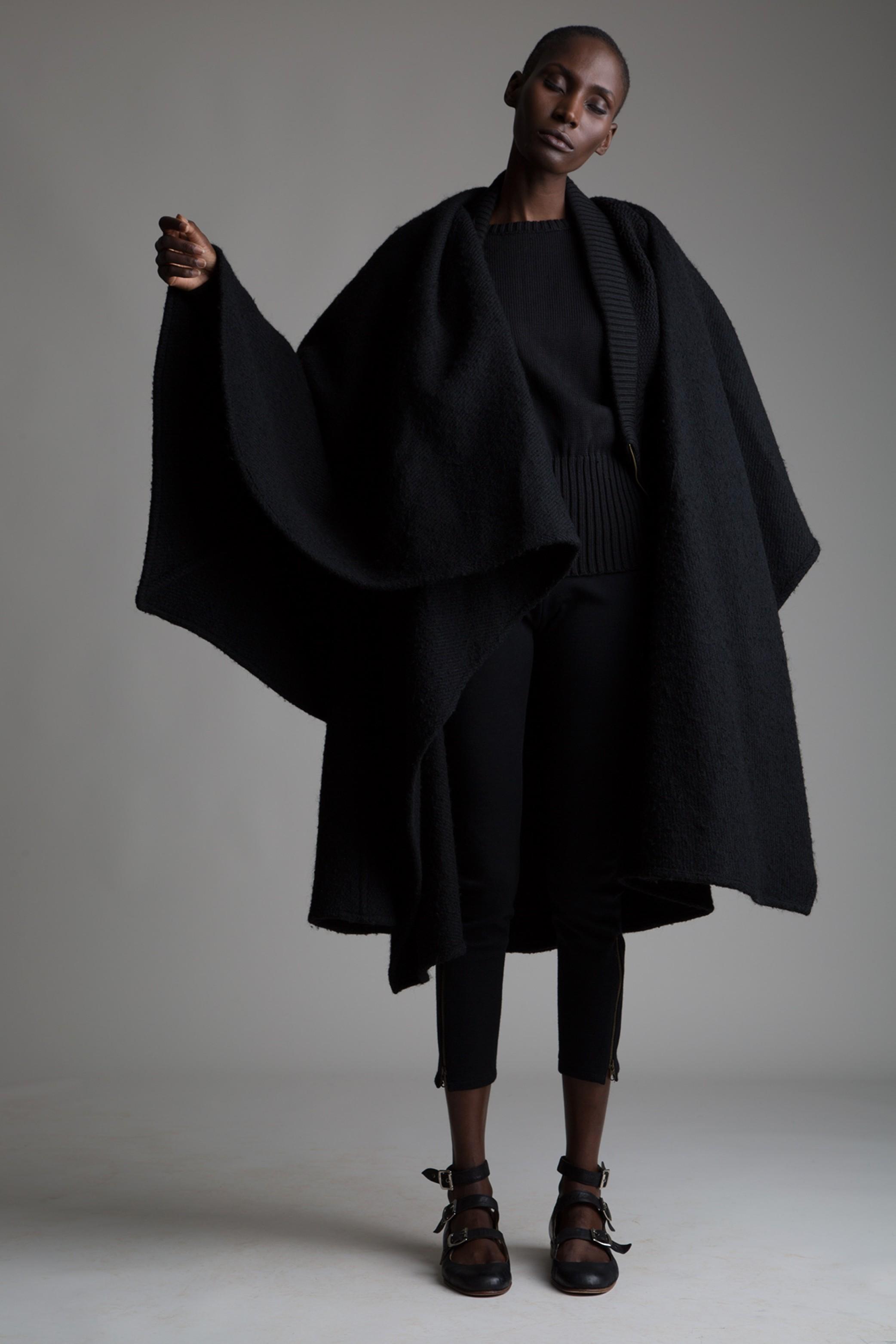 Vintage Issey Miyake Black Poncho