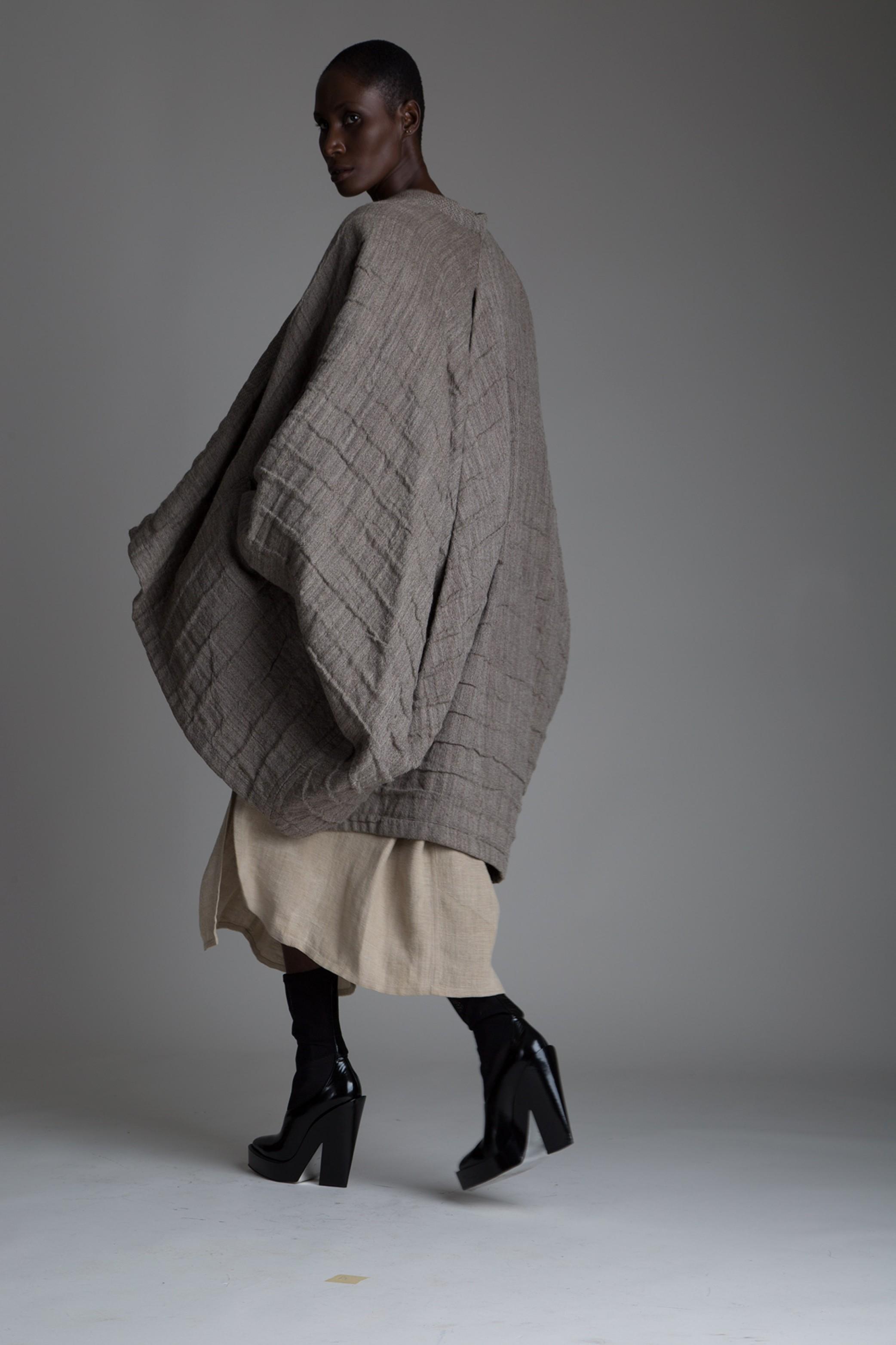 vintage issey miyake cocoon coat