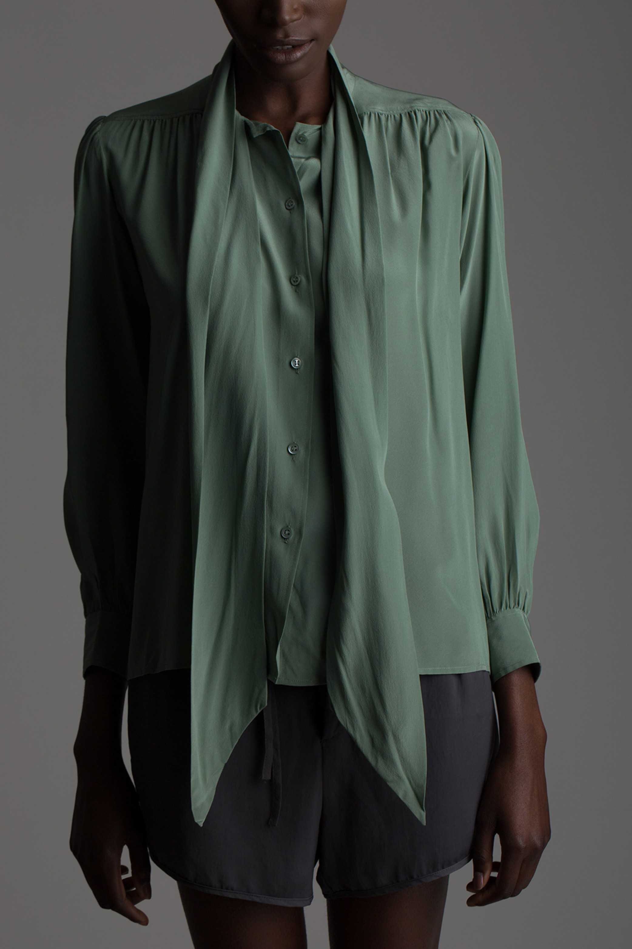 2d43a611b2 Vintage Yves Saint Laurent Silk Blouse | The New World Order