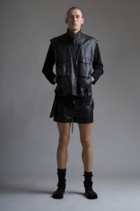 Phillip Lim Leather Gym Shorts