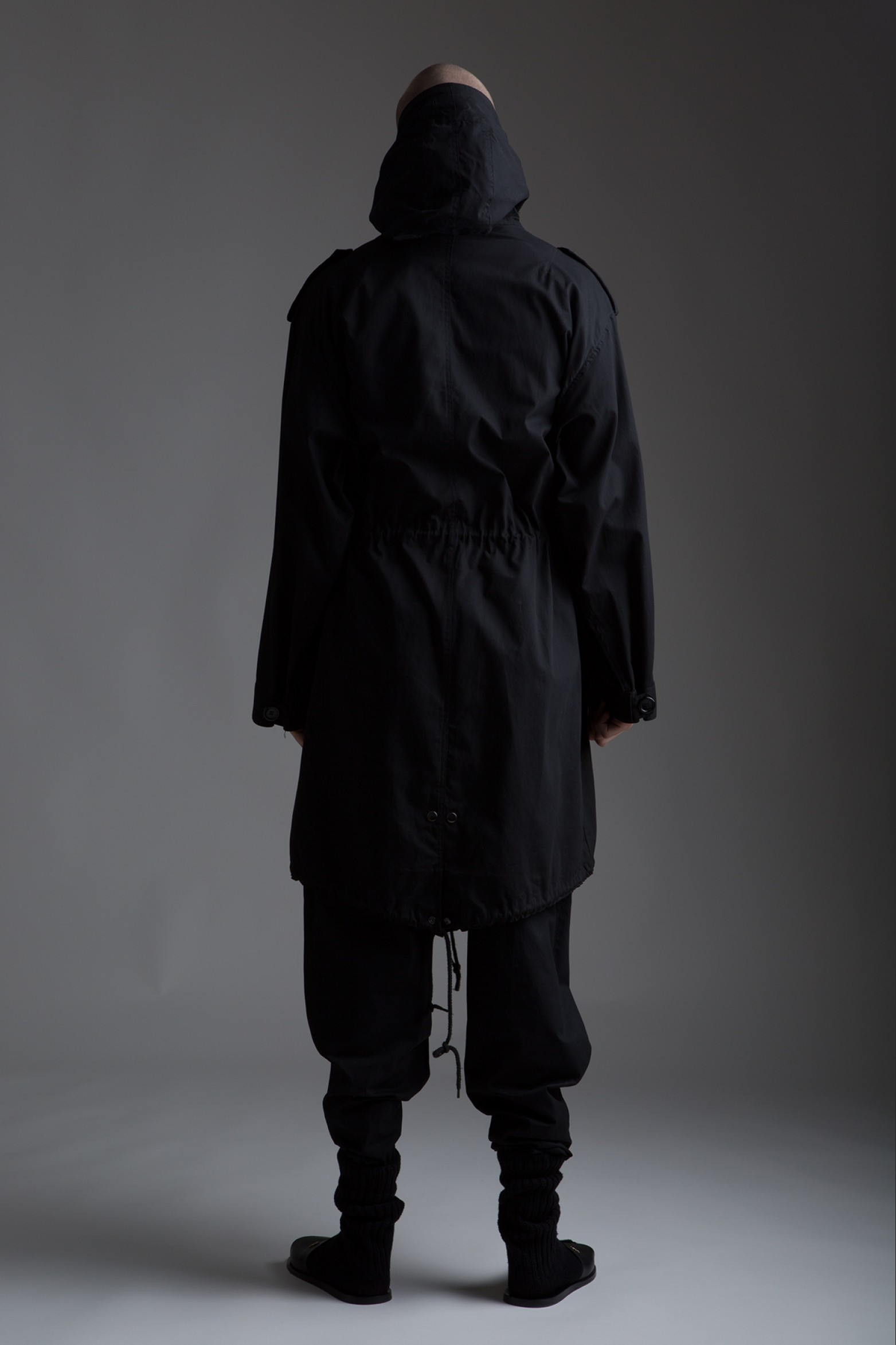 Vintage Black Military Surplus Coat