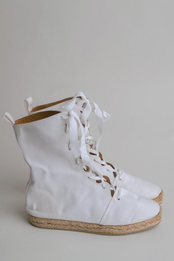 Vintage Hermes Espadrille Gladiator Boots