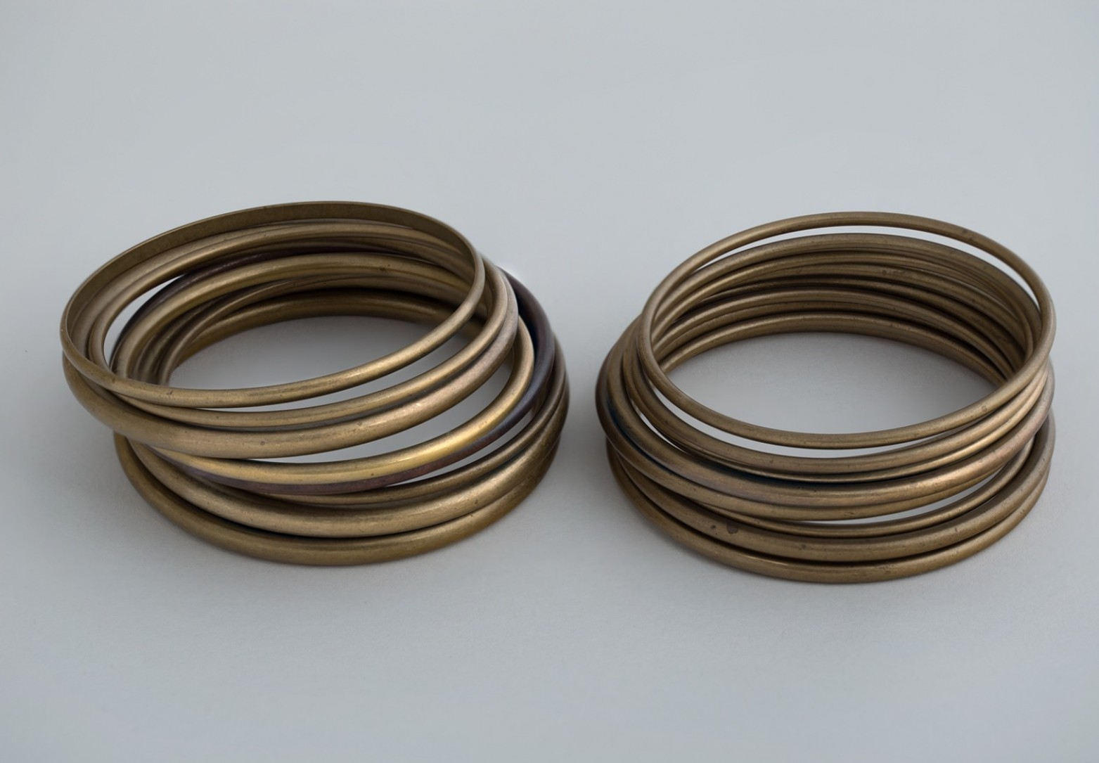 Stacked Brass Bangles