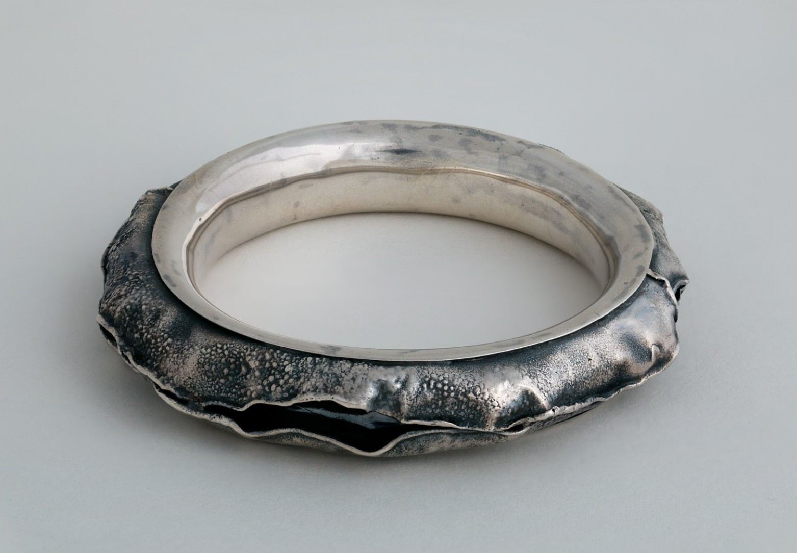 Brutalist Raw Edge Bangle