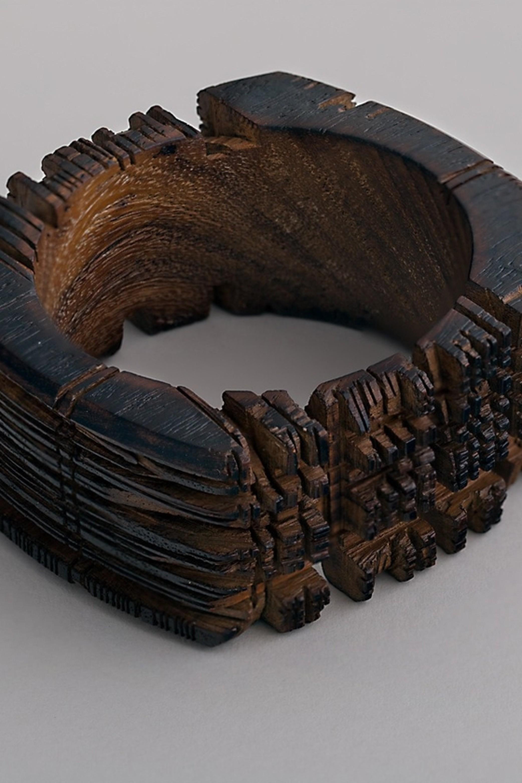 Hand-sawn Wooden Bracelet